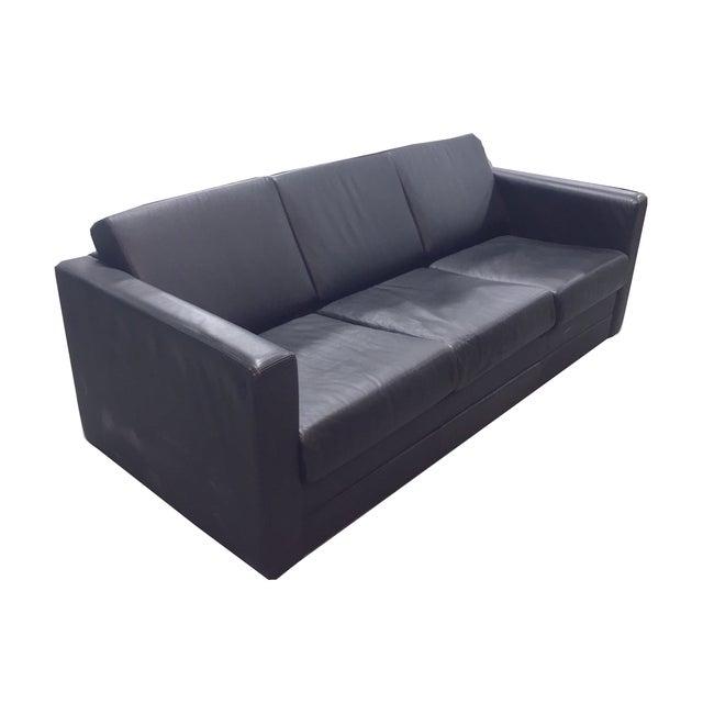 Brayton International Black Leather 3 Seater Sofa - Image 2 of 9