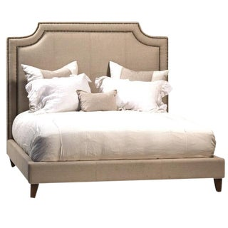 Linen Upholstered Bed Frame Eastern King