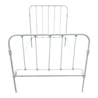 Antique Twin Iron Bedframe