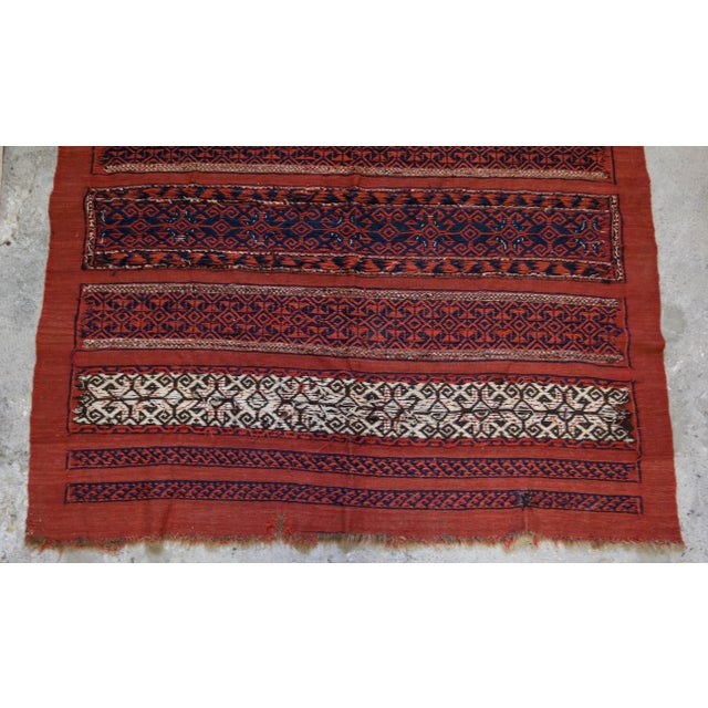 "Vintage Turkish Aztec Print Rug - 5'1"" x 5'3"" - Image 8 of 8"