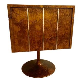 Lane Modern Lacquered Folding Cube Cabinet Bar