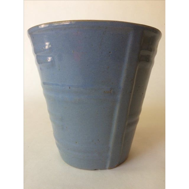 Machine Age Blue-Grey Flower Pot - Image 4 of 11