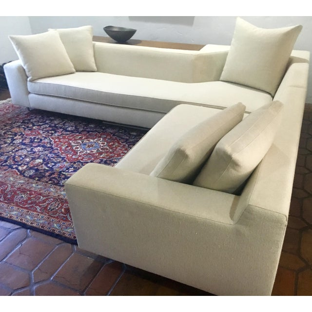 Vioski Shea Sectional With Walnut Console - Image 3 of 13