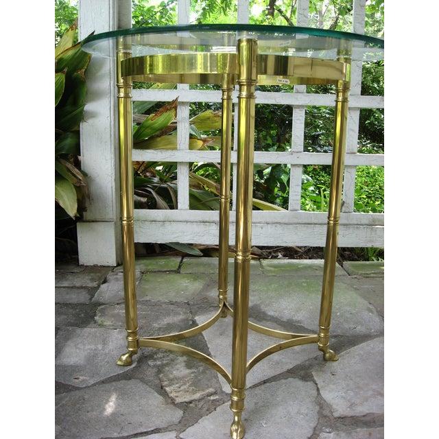 Vintage Brass LaBarge Table - Image 3 of 8