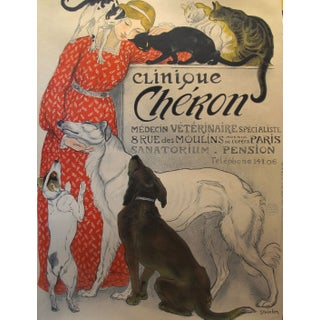 Steinlen Clinique Cheron Art Print Poster