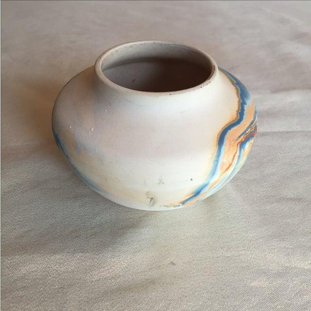 Nemadji Native American Marbelized Vase - Image 6 of 8