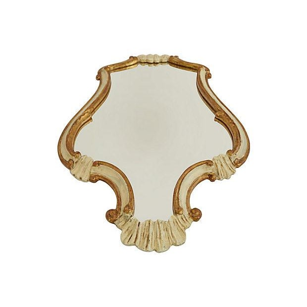 Carved Ivory Gilt Mirror - Image 2 of 3