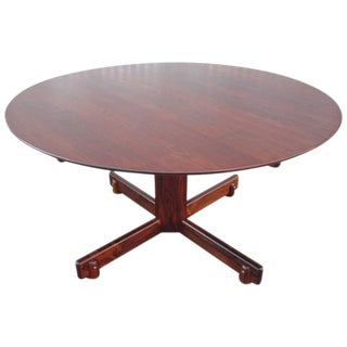 Sergio Rodrigues Rosewood Pedestal Dining Table