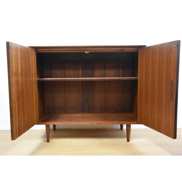 Mid-Century Modern Walnut Bar Cabinet - Image 3 of 8