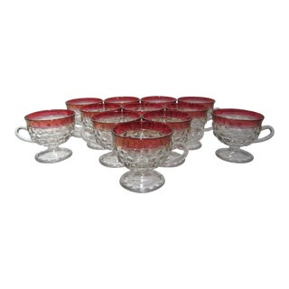 Cranberry Red Punch Cups - Set of 12