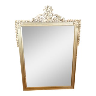 Crested Classical Wall Mirror in Gold