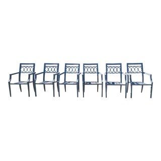 Neoclassic Galvanized Outdoor Dining Chairs - Set of 6