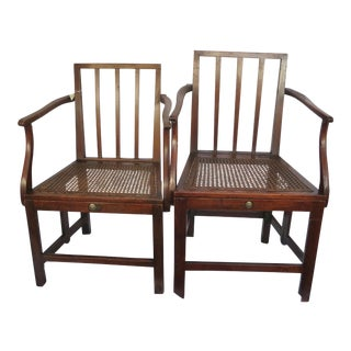 1800's Scottish British Military Campaign Chairs - A Pair