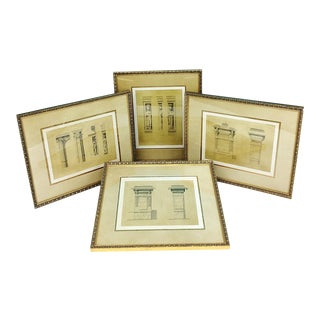Bombay Company 16th Century French Architecture Prints-Set of 4