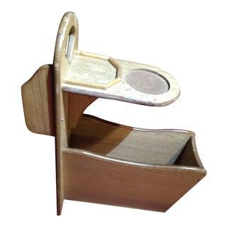 Rustic Wood Side Table & Magazine Rack