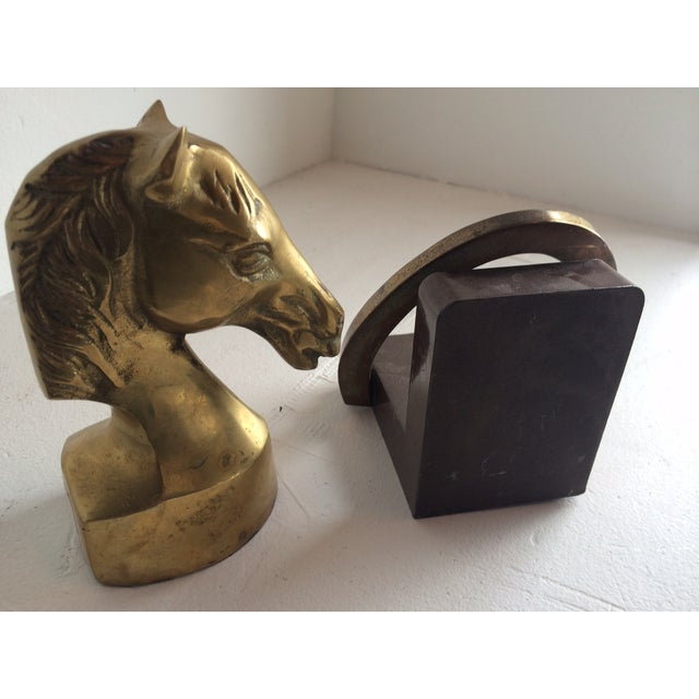 Equestrian Horseshoe Brass Bookends - 2 - Image 5 of 6