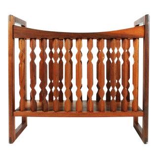 """Drexel Wooden """"Crib"""" Magazine Stand"""