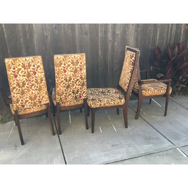 Image of Wooden Frame Vintage Dining Chairs - Set of 4