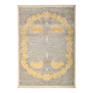 "Contemporary Hand Knotted Area Rug - 6'2"" X 8'7"""