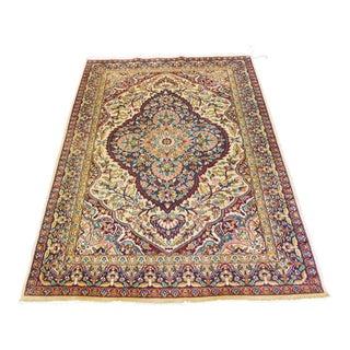 """Vintage Kerman Oriental Persian Rug - 4' X 5'9"""""""