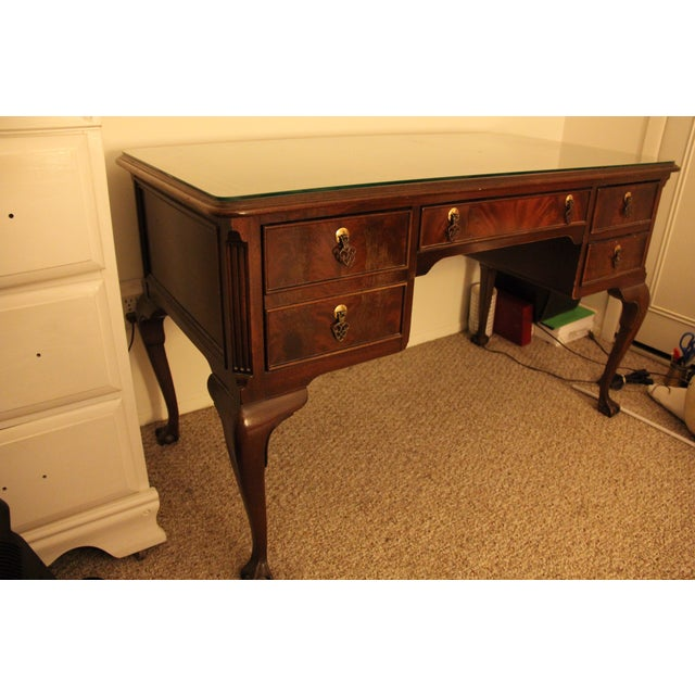 Antique Traditional Wool Writing Desk - Image 6 of 9