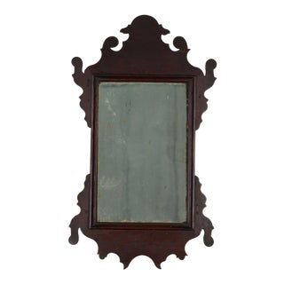 18th Century Chippendale Rare Miniature Looking Glass Mirror