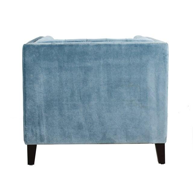 Image of Pasargad Victoria Collecion Grey Velvet Armchair