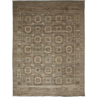 "Gray Khotan Hand-Knotted Rug - 7'5"" X 9'9"""