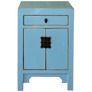 Sky Blue One-Drawer Chest
