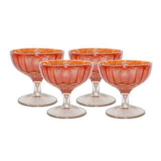 Carnival Glass Sherbet Glasses - Set of 4