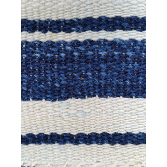 Mali Indigo Strip Pillows - Pair - Image 4 of 5