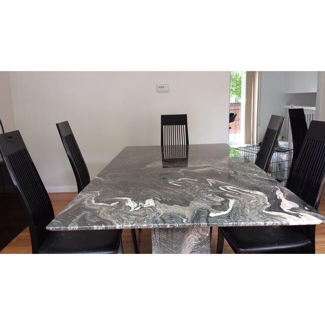Roche Bobois Italian Marble Dining Set - Image 4 of 9