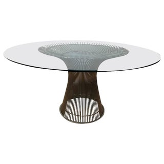 Warren Platner Chrome and Glass Dining Table