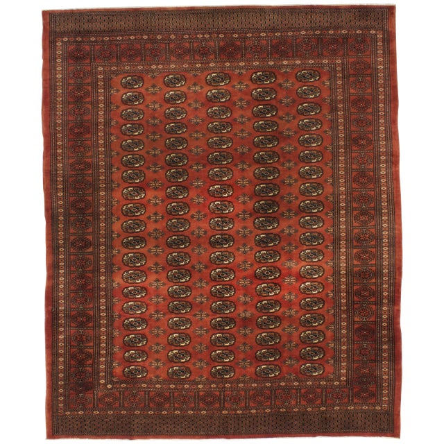 "Rust Red Finest Peshawar Bokhara Rug - 8'4"" X 10' - Image 1 of 3"