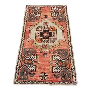Vintage Tribal Oushak Rug - 1′7″ × 3′