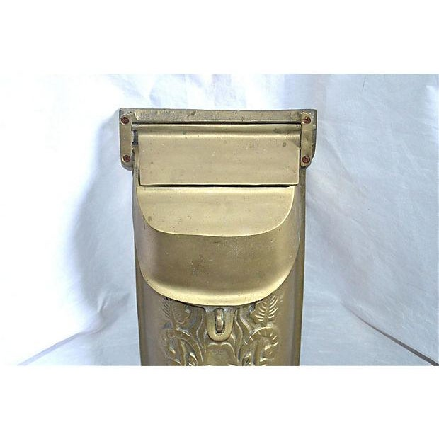Vintage Brass Mailbox With Peephole - Image 4 of 11