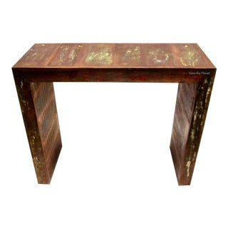 Antique Bar Table In Eco-Friendly Reclaimed Solid Wood