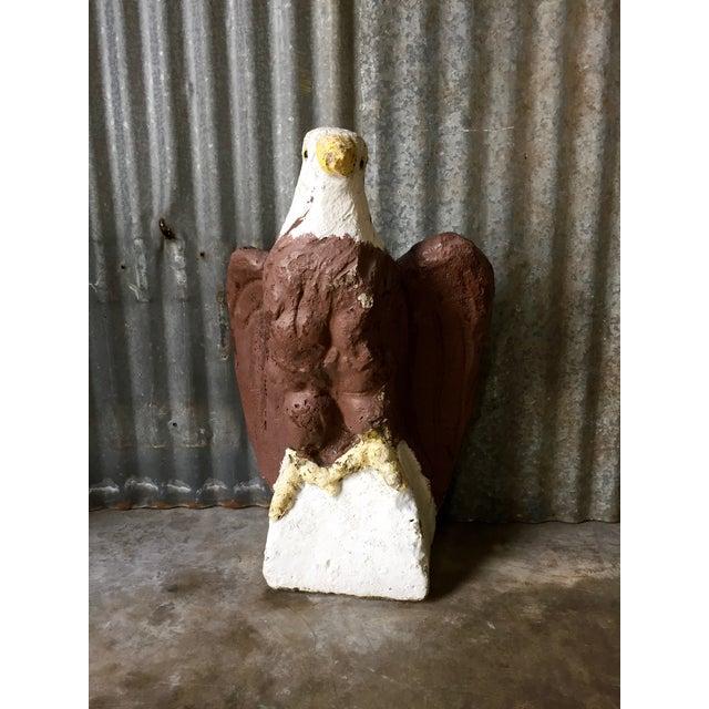 Vintage Concrete Eagle Statue - Image 2 of 8
