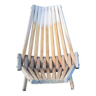 Mid-Century Teak Folding Lounge Chair