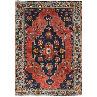Nahavand Copper Vintage Persian Rug - 4′1″ × 6′