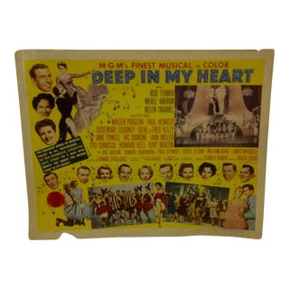 """Vintage Movie Poster Mgm's Finest Musical in Color """"Deep in My Heart"""" - 1954"""