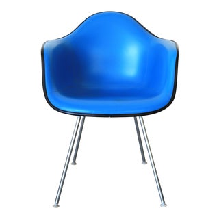 Blue Naugahyde Chair by Eames for Herman Miller