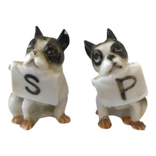 Vintage Boston Terrier Salt & Pepper Shakers - a Pair