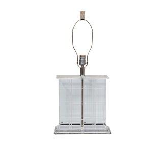 Mid-Century Modern Lucite Table Lamp