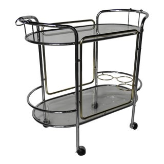 Chrome & Brass Bar Cart