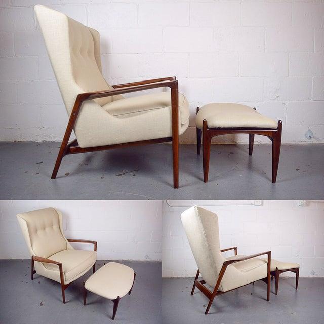 Kofod-Larsen Mid Century Lounge Chair & Ottoman - Image 3 of 6