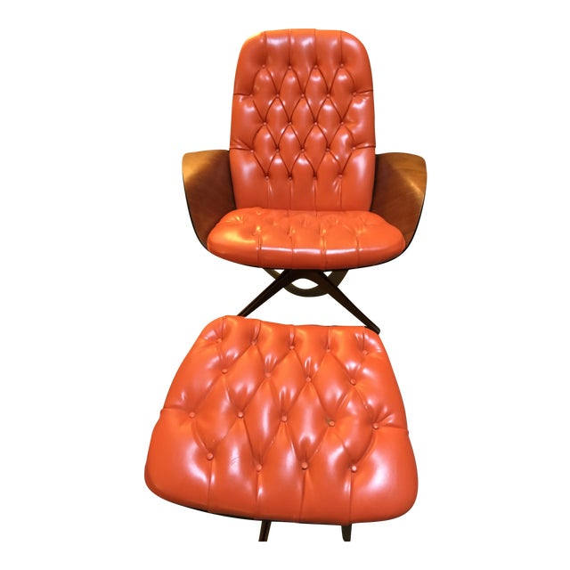 1960's PlyCraft Lounge Chair & Ottoman - Image 1 of 10