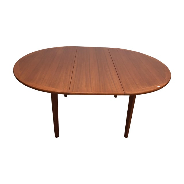 Danish Modern Dinning Table With Leaf - Image 1 of 5