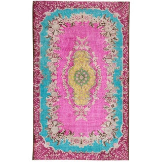 "Apadana Turkish Revival Overdyed Rug - 6'3"" X 10'6"""