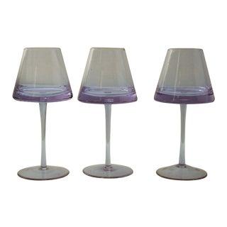 Karim Rashid UFO Lavender Goblets - Set of 3